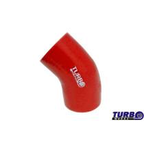 Szilikon szűkítő könyök TurboWorks Piros 45 fok 76-102mm